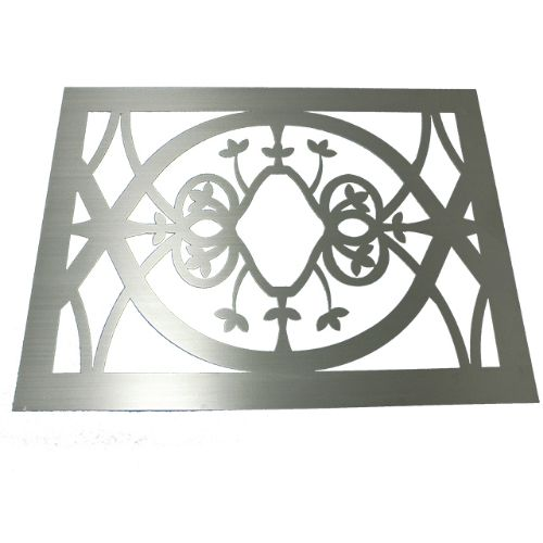 custom machined decorative speaker grill