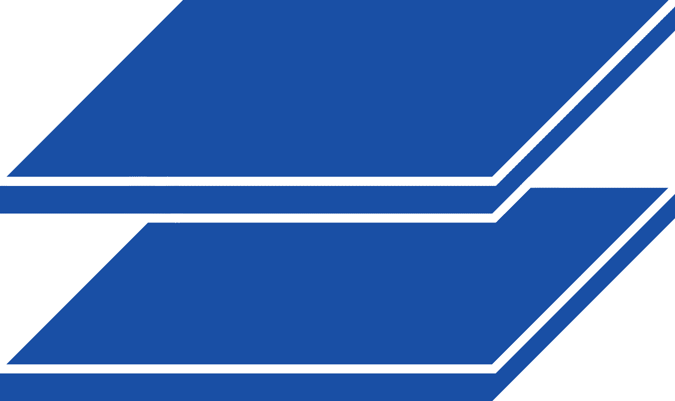 blue stacked sheet metal icon