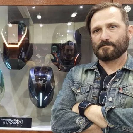 A.J. With Tron Legacy Props