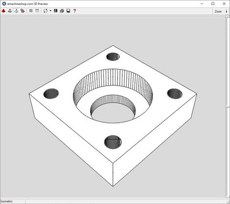 3D render of a custom bearing block made in eMachineShop CAD