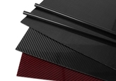 carbon fiber sheets on a white background