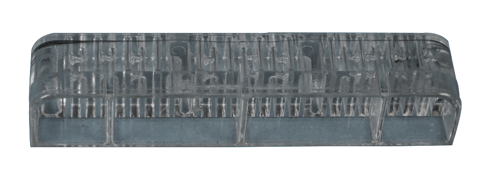 Injection molded clear plastic part