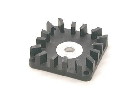 Anodized and post milled heat sink