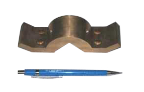 Rudder post clamps for boat