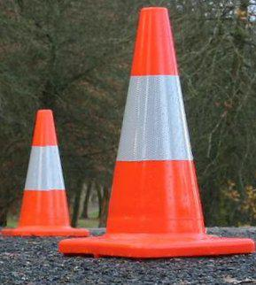 Traffic Cones made by Rotomolding