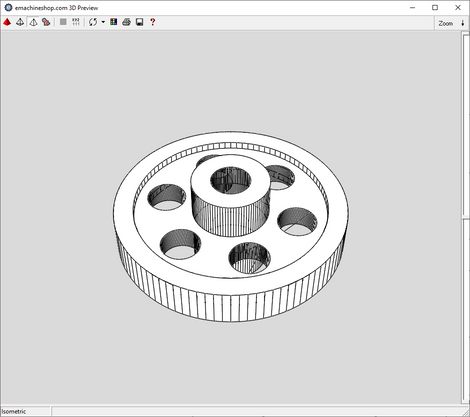 3D render of a custom flywheel made in eMachineShop CAD