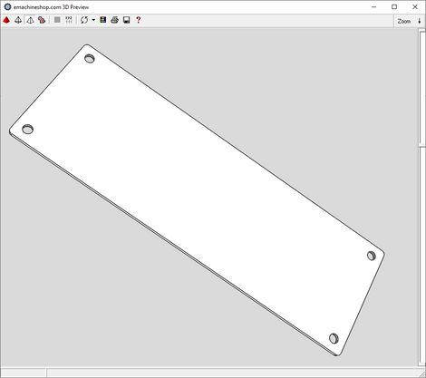 3D render of a front panel in eMachineShop CAD
