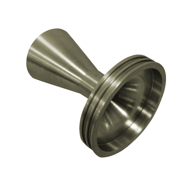 aluminum rocket nozzle made on a lathe
