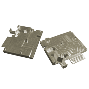 2 attachable complex milled metal parts