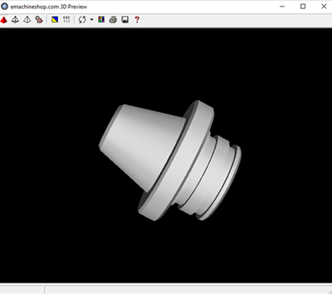 3D render of a nozzle in eMachineShop CAD