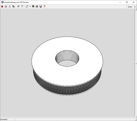 3D render of a pulleyy made in eMachineShop CAD