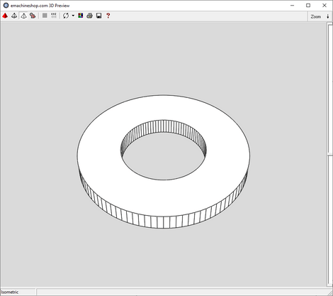 3D render of a custom spacer made in eMachineShop CAD