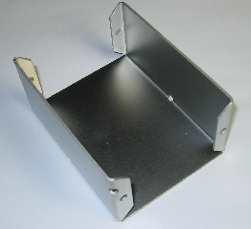 Sheet metal enclosure bottom